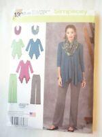 Vintage 2014 Sewing Pattern Knit Tunic Pants & Scarf Size 14-16-18-20-22 Uncut