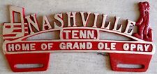 Nashville Home of Grand Ole Opry car topper license plate Hot rod