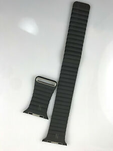 with Manufacturing defect Apple Watch Leather Loop 42mm 44mm Medium Storm Gray