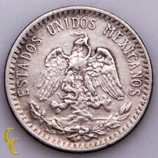 1919 Mexico 20 Centavos Silver Coin In XF, KM# 436