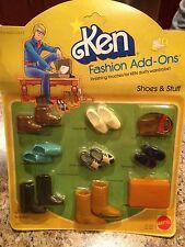 Mattel Vintage Barbie Doll Fashion Add-Ons Ken Shoes & Stuff #2459 1980 NOC