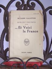 █ Benjamin VALLOTTON 1931 Quel est ton Pays ? ALSACE █