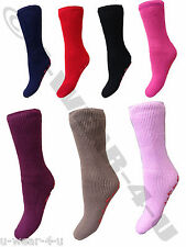 LADIES HOT SOCK CO THERMAL GRIPPER SOCKS TOG 2.3 4-6 WARM WINTER SLIPPER