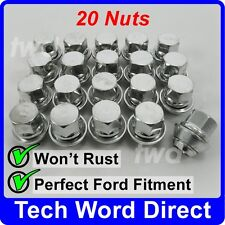 WHEEL NUTS FORD MONDEO ALLOYS MK1 MK2 MK3 MK4 X20 SILVER LUG BOLTS STUD [N50]