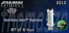 QUI-GON JINN spinner toy #7  - Star Wars episode 1 3D - McDonald's (2012) *NIOP