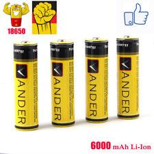 VANDER 4X 6000mAh 18650 Akkus  3.7V li-ion Batteries Wiederaufladbare Akku