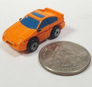 Pontiac Fiero Orange 2 Blue Windows Micro Machines Rare Vintage Galoob