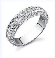 Gorgeous 1.60ct F VS Diamond Wedding Band 18K W Gold; Designer Large Build