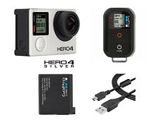 GoPro HERO 4 Silver Edition Touch-Screen Camera + Remote Control + OEM Battery