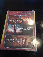 Resident Evil/Resident Evil: Apocalypse/Resident Evil: Extinction (DVD, 2008, 4-