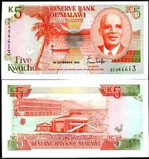 MALAWI 5 KWACHA 1990 P 24 UNC NR