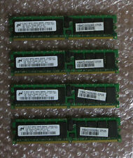 Micron 4GB (4x1GB) DDR2 Server Memory RAM PC2-3200R-333-12 MT18HTF12872Y2Y-40EA2