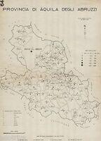 Anno XVI Era Fascista Provincia Catania Comuni nel 1938.Etna.Carta Topografica