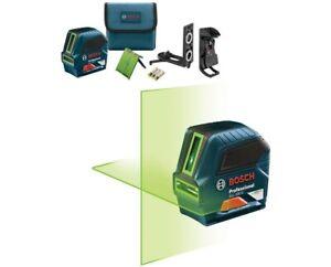 Bosch GLL 100 GX Green-Beam Cross-Line Laser Manufacturer Refurbished