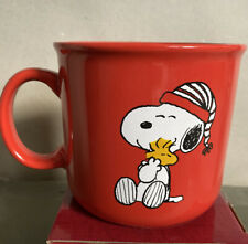 Snoopy And Woodstock Oversized Ceramic Mug (New) - Christmas Theme