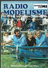 REVUE RADIO MODELISME N°143  1978  VOIR SOMMAIRE   vintage model magazine