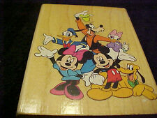 Mickey Mouse & Friends Wood Stamp Goofy Donald Minnie Daisy All Night Media