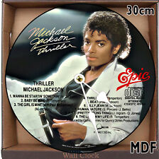 Michael Jackson MDF Wall Clock Large 30CM /11.81in/ MDF CAN BE PERSONALISED