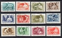 """Hungary: Nice Collection of 12-Mainly Used """"Workers Trades""""  (Reduced Postage)"""