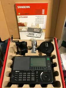 Sangean ATS-909X Shortwave Radio With Case,  Antenna, Manual, Power Supply