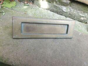 Vintage brass letter box/plate 255mm x 78mm