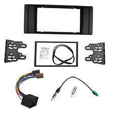 Double Din Radio Fascia for BMW 5 Series E39 X5 E53+ISO Antenna Adapter Trim Kit