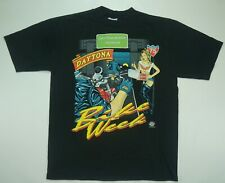 Rare Vintage ALL SPORT Daytona Beach Bike Week Single Stitch T Shirt 90s Black L