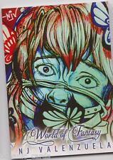 WORLD OF FANTASY REPRINT SKETCH ART INSERT CARD Z-NJV1 N.J VALENZUELA Z-CARD