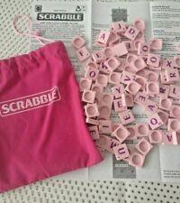 PINK Scrabble Tiles Plastic Spares Large Bundle & Bag