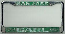 San Jose California Carl Chevrolet Vintage GM Impala Dealer License Plate Frame