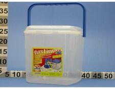 Fustino Contenitore Per Detersivi con manico in plastica trasparente grande