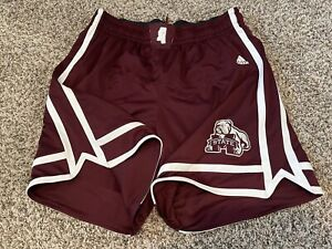 TEAM ISSUED NCAA Adidas Mississippi State Basketball Authentic Game Shorts 3XL+0