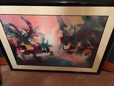 Jack  Roberts - Large -  Abstract Art Print -  Framed and Matted - Very Nice !