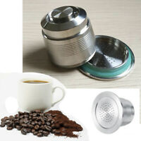 Stainless Steel Refillable Reusable Coffee Capsule Pod for Nespresso W/Scoop US