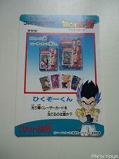Carte Dragon Ball Z Card DBZ / Hero Collection Part 3 - Check list 5 / NEW