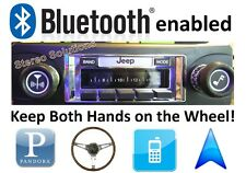 Bluetooth Enabled '81-86 Jeep CJ 8 Scrambler 300w AM FM Stereo Radio iPod, USB