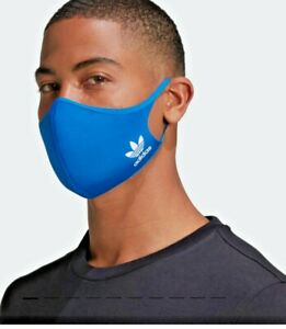 Official GENUINE Adidas Face Covering BLUE Reusable Medium Large new Washable