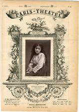 Lemercier, Paris-Théâtre, Angele Moreau, actrice Vintage albumen Print Tirag