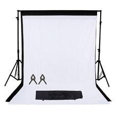 Fot-R estudio fotográfico Fondo blanco negro Kit de Soporte de telón de fondo Chroma Key Pantalla