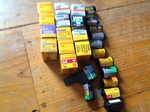 LOT of 26 rolls of various NOS Vintage 35mm photographic Film EXPIRED AS IS