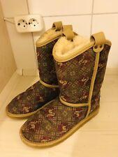 Australia Luxe Collective Damen  Stiefel Boots Lammfel Leder beige Größe 37