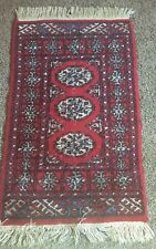 Vintage Rustic Kilim Flatweave Turkish 100% Wool Pile Prayer Rug Pakistan