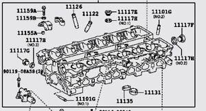Toyota Supra New OEM 2JZ-GTE VVTI Bare Cylinder Head - 1110149415