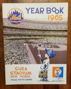 1965 New York Mets Yearbook ORIGINAL, Not Final Excellent Condition, WHITE pages