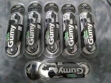 6 JVC Headphones Gumy Olive Black