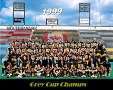 1999 CFL Hamilton Tiger Cats Grey Cup Champions Team Picture Color 8 X 10 Photo