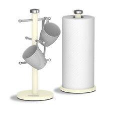 Morphy Richards Accents Avorio 6 Tazza Mug ALBERO cucina Rullo Carta Asciugamano Pole Set