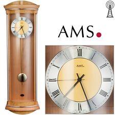 AMS 5080/16 Horloge murale radio-pilotée à pendule Erle / Racine 4/4 Westminster
