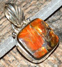 Ammolite 925 Sterling Silver Pendant Jewelry JJ6897