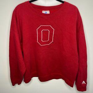 Adidas Crewneck Sweatshirt Men's XL Red Ohio State Buckeyes NCAA Vtg Retro
